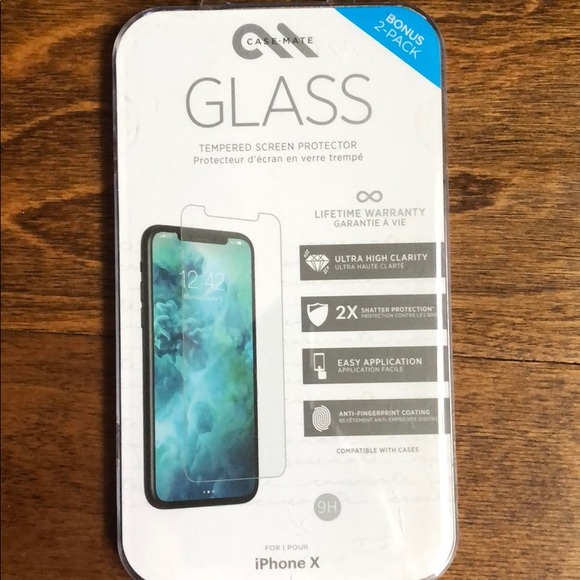 low priced bf4d8 fc9a8 📱iPhone X Casemate glass screen 📺 protector